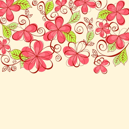 Floral background for textile or invitation card design Stock Vector - 11157323
