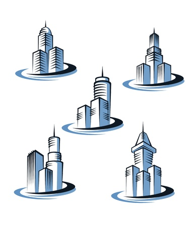 Skyscrapers and real estate symbols for design and decorate Stock Vector - 11157308