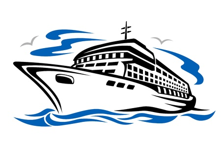 Ship silhouette for transportation or travel design Stock Vector - 11157306
