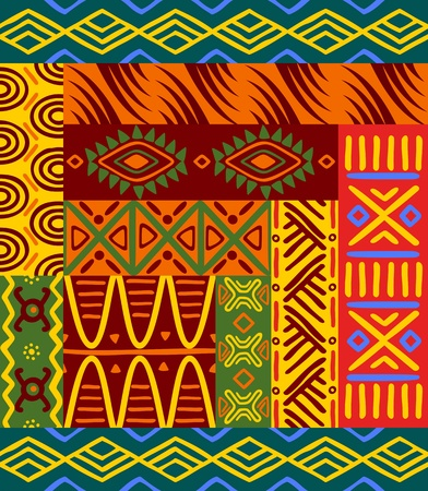 african culture: Abstract ethnic patterns and ornaments for design Illustration