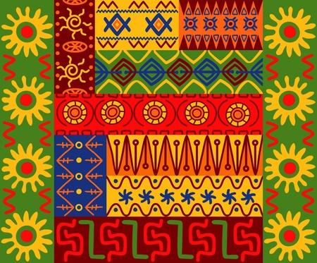 Abstract etnische patronen en ornamenten voor het ontwerp Stock Illustratie