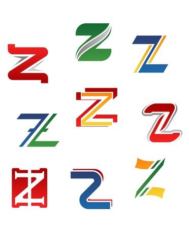 letter z: Set of alphabet symbols and elements of letter Z