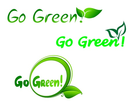 Set of go green symbols for ecology design Vector