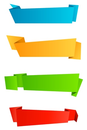 blank banner: Abstract template banners in origami style for web design