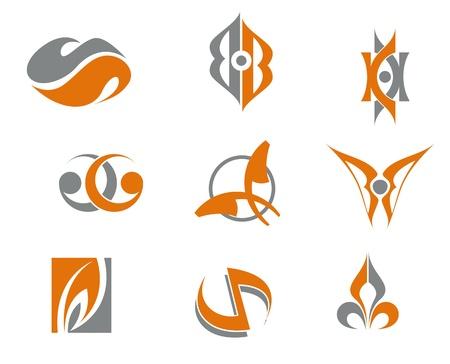 logo ordinateur: Jeu de symboles abstraits pour le web design Illustration