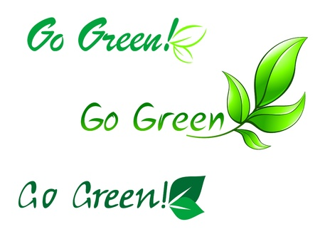 Set of go green symbols for ecology design