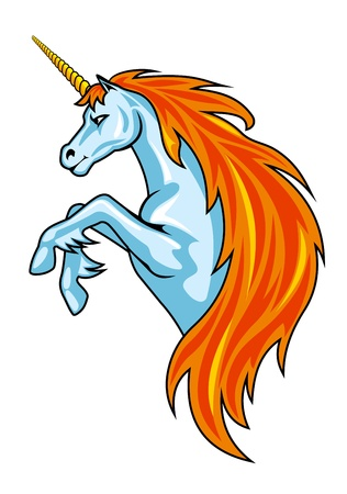 Magic unicorn horse in cartoon style for fantasy design Vector