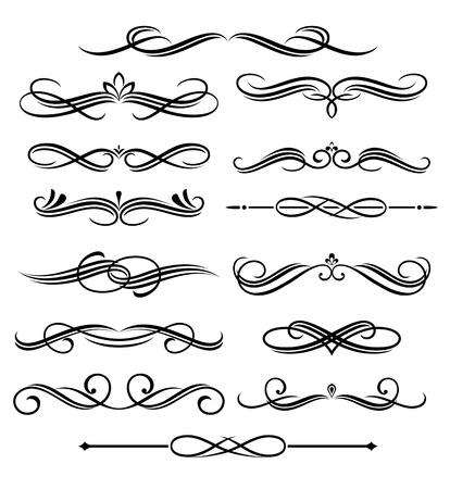 scroll?: Elementos de la �poca y de las fronteras establecidos para ornamentales y decoraci�n