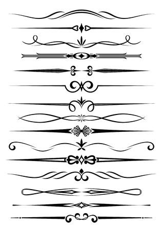 Diviseurs de cru et des frontières fixées pour orner et de la décoration