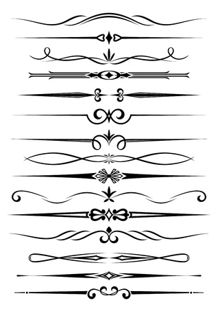 calligraphique: Diviseurs de cru et des fronti�res fix�es pour orner et de la d�coration