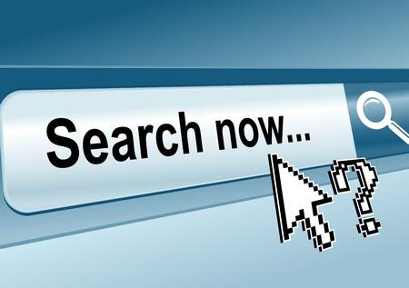 toolbar: Pagina Web con la barra di ricerca per il concetto di Internet Vettoriali