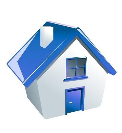 case moderne: Casa icona lucido per il web o un altro disegno
