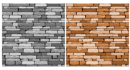 Seamless stone background in two variations for design Vector