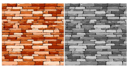 brick and mortar: Mosaic seamless stone background in two variations for design Illustration