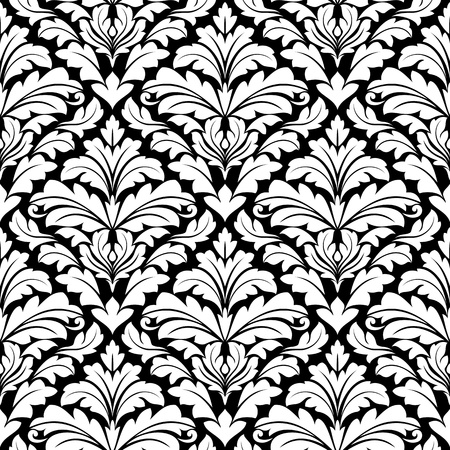 Seamless floral damask pattern for background design Vector