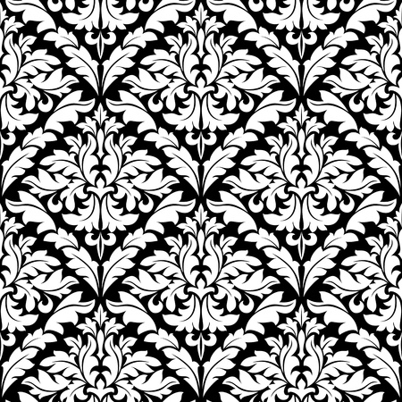 Seamless damask pattern for background or wallpaper design Vector
