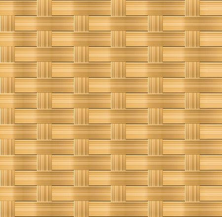 Wicker seamless pattern for organic background design Vector
