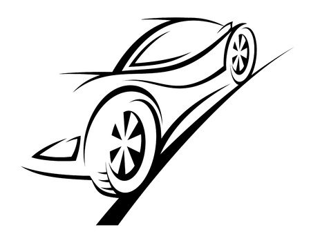 Silhouette of sport car for racing sports design Vector