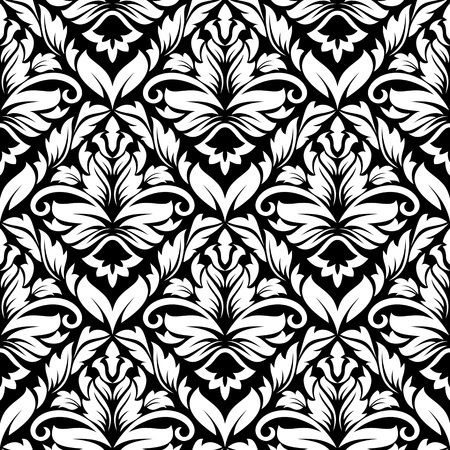 Seamless damask pattern for wallpaper design Vector
