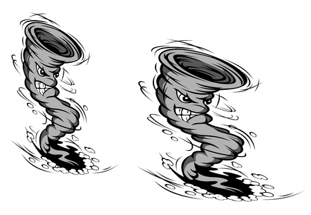 twister: Danger hurricane in cartoon style for weather or disaster design