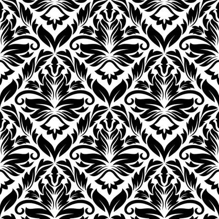 White and black seamless pattern for background or textile design Stock Vector - 12306875
