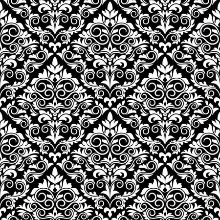 Damask seamless pattern for textile or wallpaper background design Stock Vector - 12306878