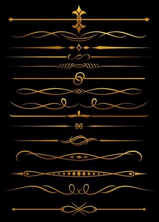 Goldene Grenzen und Trennscheiben für kunstvolle und Dekorationen