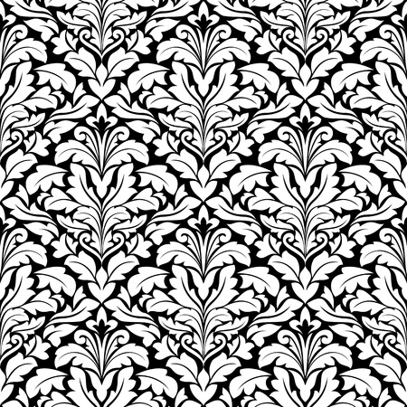 Royal damask seamless pattern for background design Vector