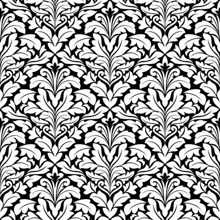 Royal damask seamless pattern for background design Stock Vector - 12465397