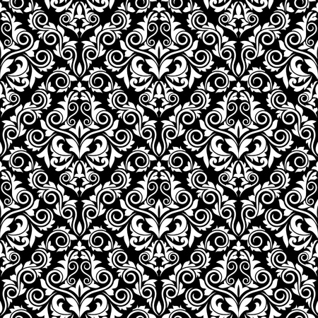 Floral damask seamless pattern for textile and background design Vector
