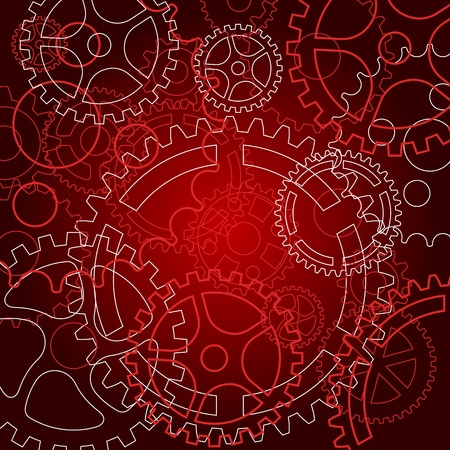 Abstract background with gears for technology or time concept design Illustration