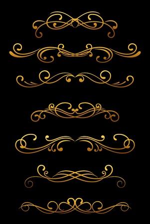 Vintage ornamental borders and dividers set for retro design Stock Vector - 12497801