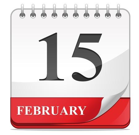 dattel: Kalender-Symbol auf wei�em Hintergrund f�r Web-Design isoliert Illustration