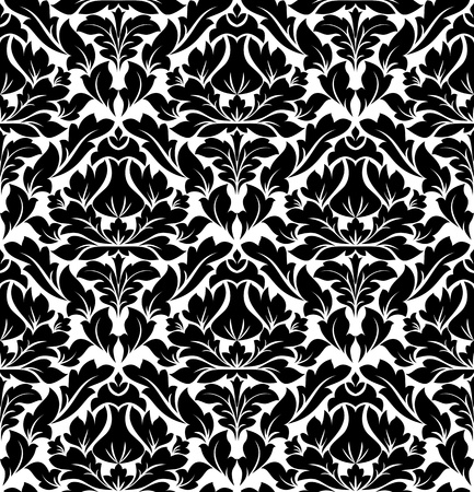 Retro seamless damask pattern for background or textile design Stock Vector - 12778502