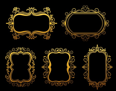 Vintage frames and borders set for ornate and embellishment Stock Vector - 12778505