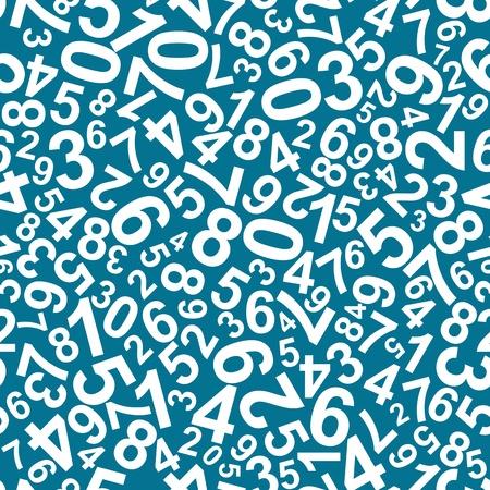 simbolos matematicos: Patr�n sin fisuras con los n�meros para el dise�o de la escuela Vectores