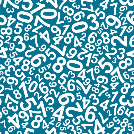 Seamless pattern with numbers for school design Illustration