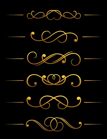 divider: Vintage ornamental embellishments set for retro design and ornate Illustration