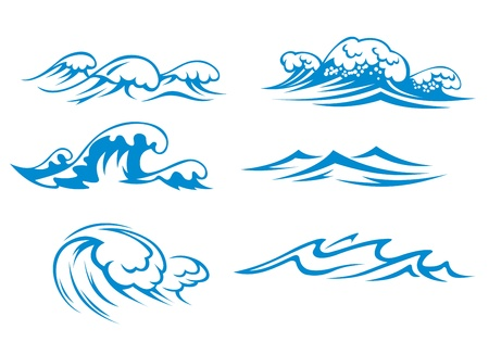 capricious: Ocean and sea waves set for design