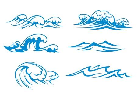 storm tide: Ocean and sea waves set for design