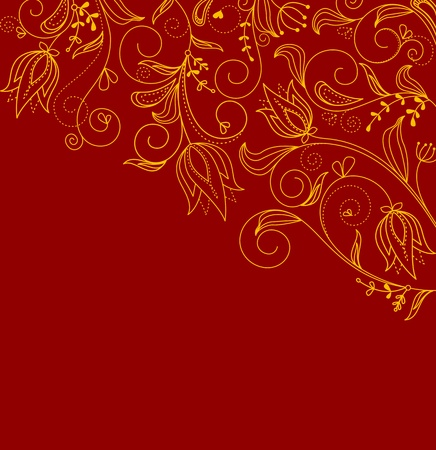 Abstract Floral Background For Invitation Card Design