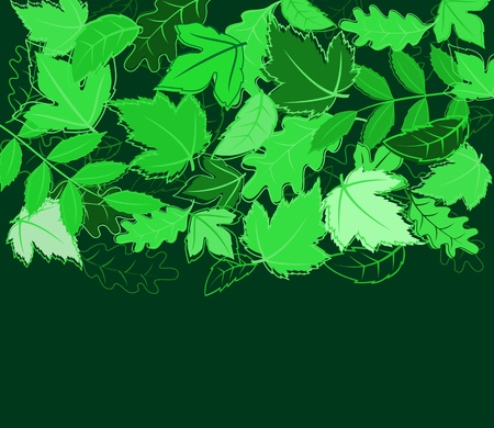 Spring green leaves background for environment design Vector