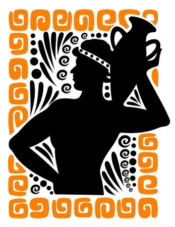 diosa griega: Antigua imagen del hombre griego para el dise�o hist�rico