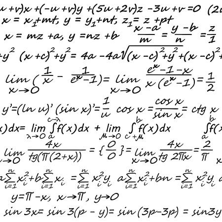 mathematical symbol: Seamless sfondo con elementi di algebra per disegno astratto matematico