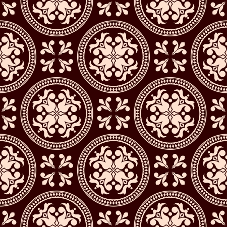 ancient scroll: Antique seamless pattern with floral elements for background design
