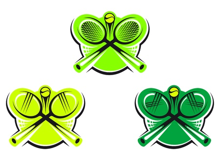 Set of tennis icons and symbols isolated on white background for sports design Vector