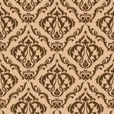 Tracery brown seamless pattern for background design Stock Vector - 13985404