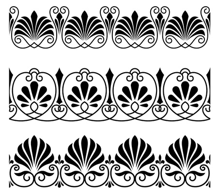 Vintage floral ornaments and embellishments for heraldic or decoration design Stock Vector - 14160503