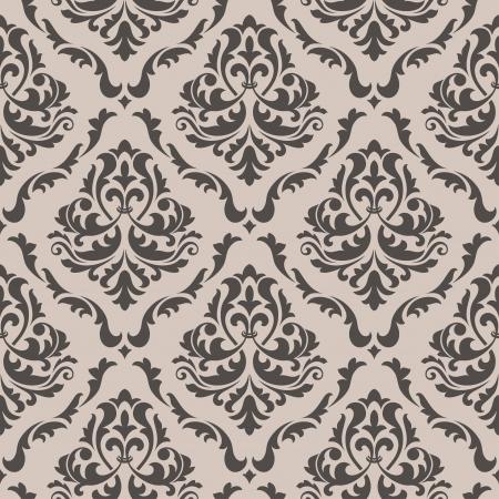 barroco: Sin fisuras patr�n floral para el dise�o de fondo en el estilo victoriano Vectores