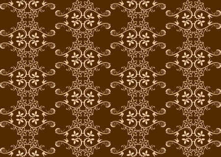 Brown seamless background with floral patterns for wallpaper or backdrop design Stock Vector - 14160515